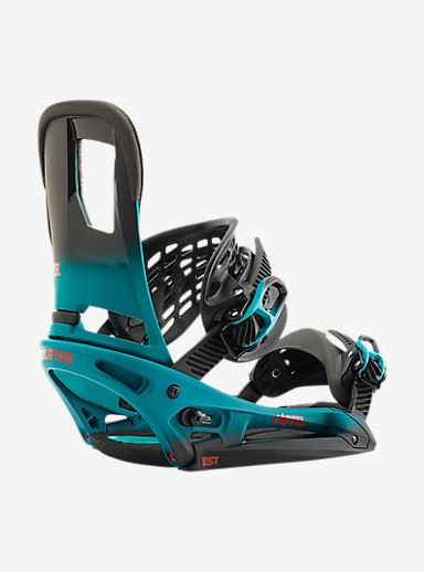 Burton Cartel EST Snowboard Binding shown in Teal Fade