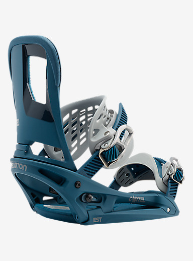 Burton Cartel EST Snowboard Binding shown in Blue / Gray