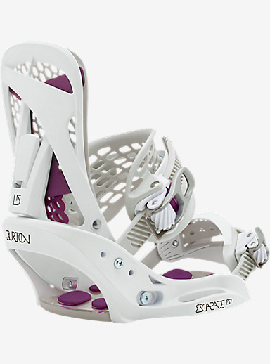 Burton Escapade EST Snowboard Binding shown in White