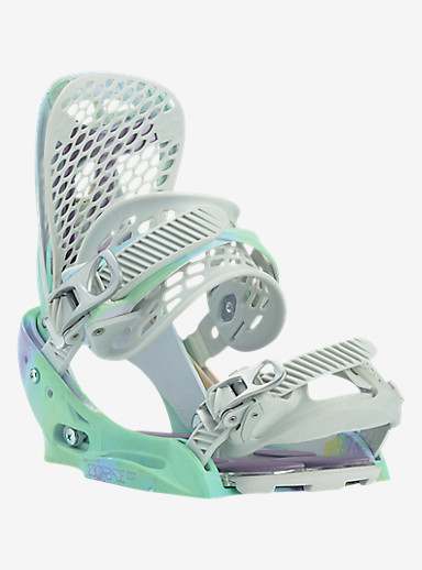 Burton Escapade EST Snowboard Binding shown in Shifty White
