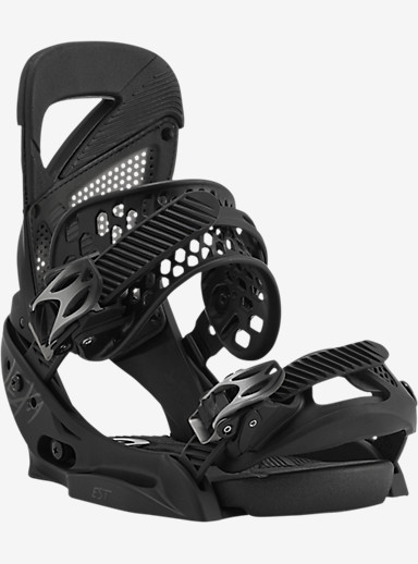 Burton Lexa EST Snowboard Binding shown in Bad Black