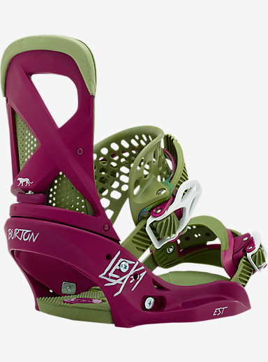 Burton Lexa EST Snowboard Binding shown in Moss Burgundy