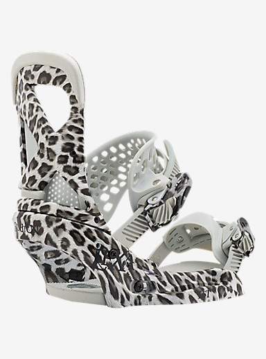 Burton Lexa EST Snowboard Binding shown in Snow Leopard