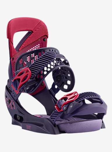 Burton Lexa EST Snowboard Binding shown in Feelgood Purple