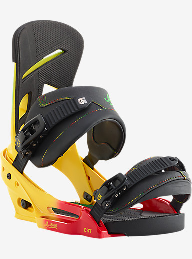 Burton Mission EST Snowboard Binding shown in Rude Bwoy