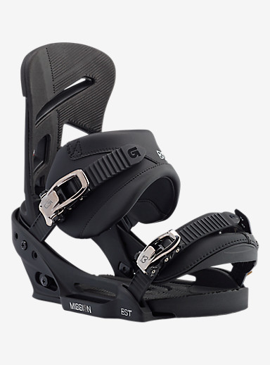 Burton Mission EST Snowboard Binding shown in Black