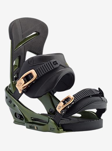 Burton Mission EST Snowboard Binding shown in Track Day Green
