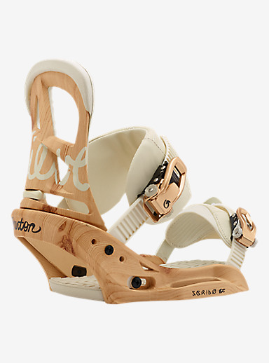 Burton Scribe EST Snowboard Binding shown in Timber