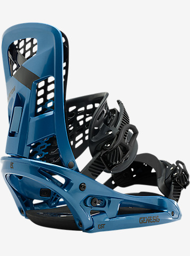 Burton Genesis EST Snowboard Binding shown in Mako Blue