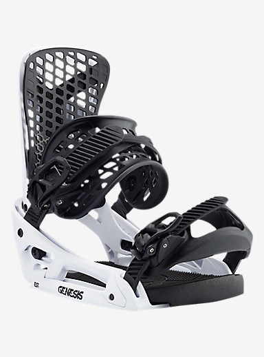 Burton Genesis EST Snowboard Binding shown in White Flag