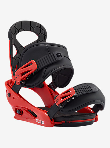 Burton Mission Smalls Snowboard Binding shown in El Rojo