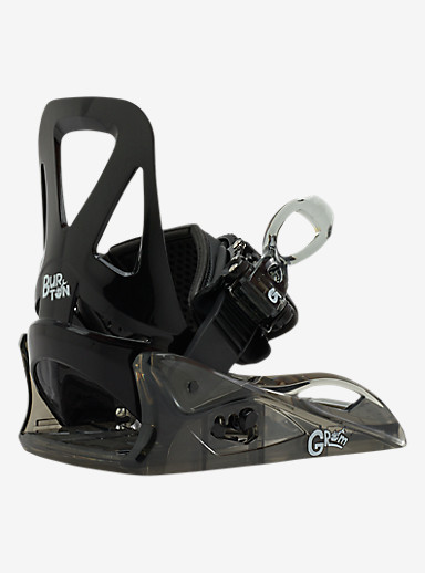 Burton Grom Snowboard Binding shown in Black