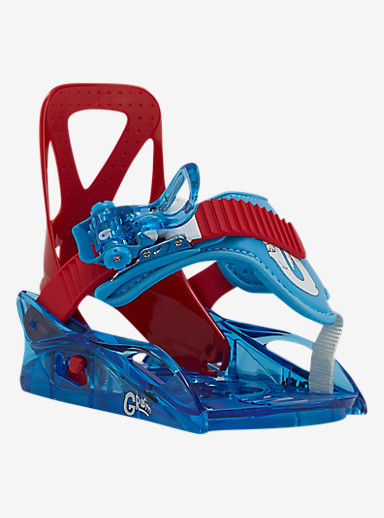 Burton Grom Binding Snowboard Binding shown in Red / Blue