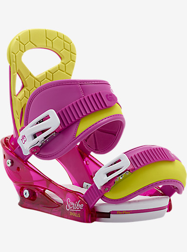 Burton Scribe Smalls Snowboard Binding shown in Razzle Dazzle Pink