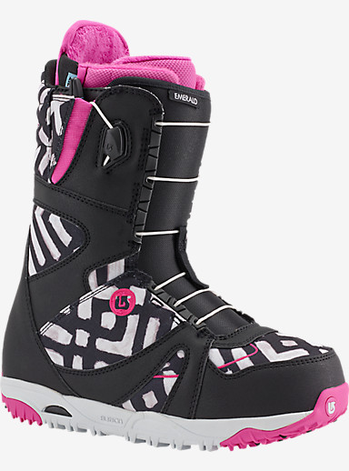 Burton Emerald Snowboard Boot shown in Black / Pink / Print