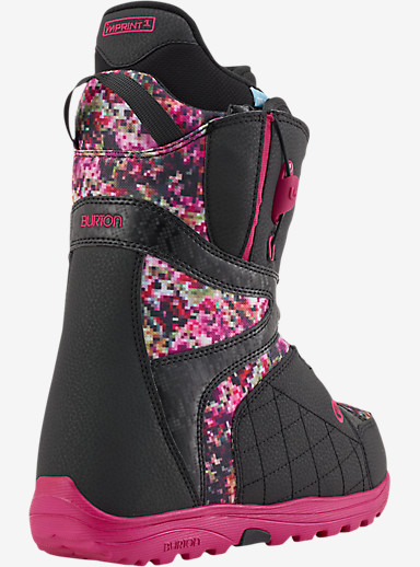 Burton Mint Snowboard Boot shown in Black / Floral Pixel