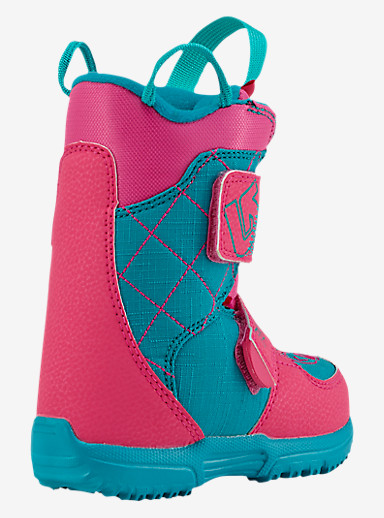 Burton Mini - Grom Snowboard Boot shown in Pink / Teal