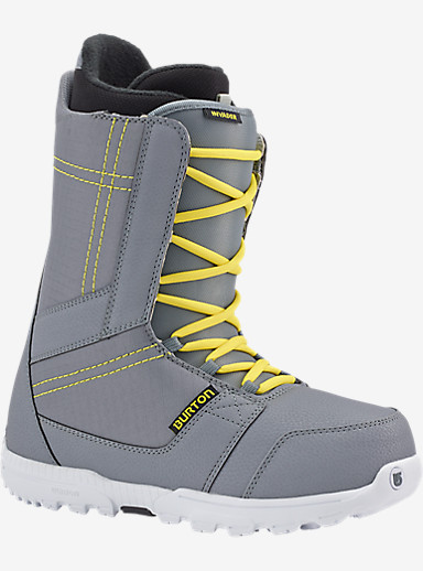 Burton Invader Snowboard Boot shown in Gray / Yellow