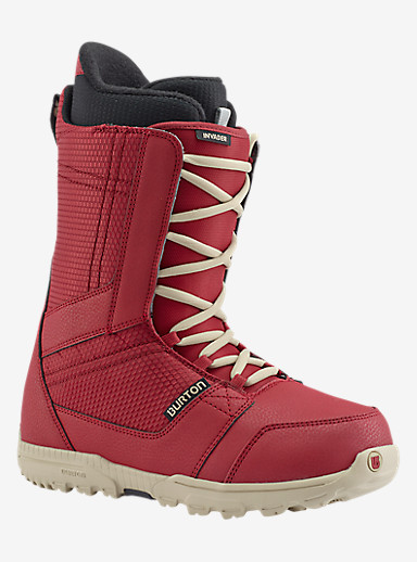 Burton Invader Snowboard Boot shown in Red