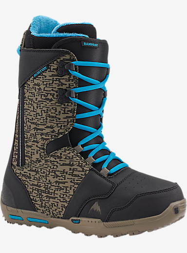 Burton Rampant Snowboard Boot shown in Black / Camo / Blue
