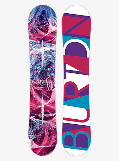 Burton Feelgood Flying V Snowboard shown in 144
