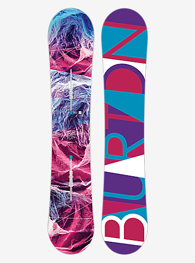 Burton Feelgood Flying V Snowboard shown in 155