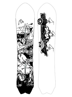 Phish x Burton Fish Snowboard shown in 156