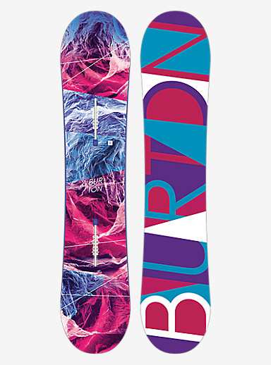 Burton Feelgood Smalls Snowboard shown in 130