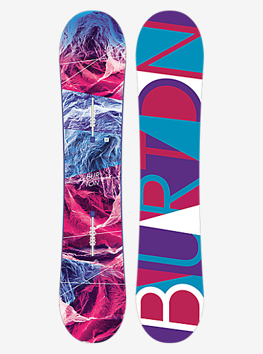 Burton Feelgood Smalls Snowboard shown in 135