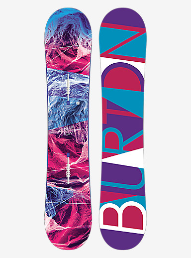 Burton Feelgood Smalls Snowboard shown in 140