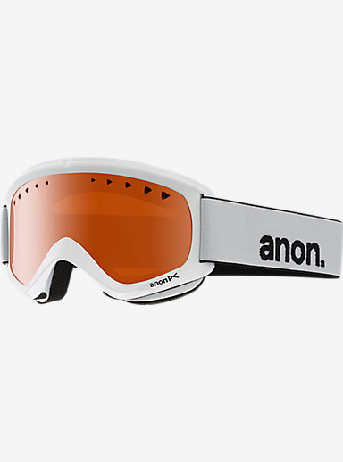 anon. Helix Goggle shown in Frame: White, Lens: Amber