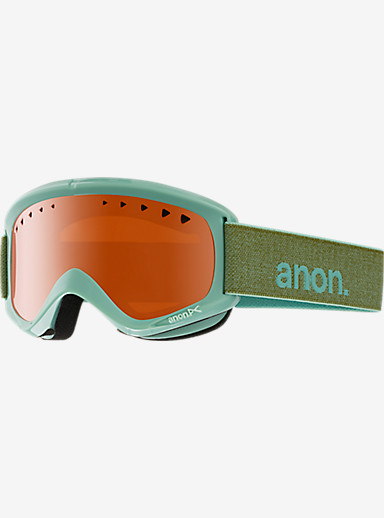 anon. Helix Goggle shown in Frame: Mint, Lens: Amber