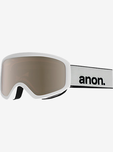 anon. Insight Goggle shown in Frame: White, Lens: Silver Amber