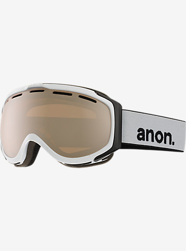 anon. Hawkeye Goggle shown in Frame: White, Lens: Silver Amber