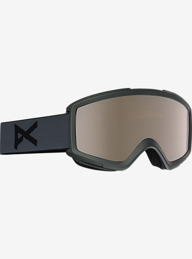 anon. Helix 2.0 Goggle + Spare Lens shown in Frame: Stealth, Lens: Silver Ambr