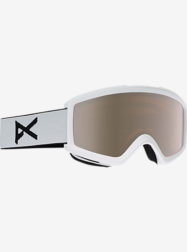 anon. Helix 2.0 Goggle + Spare Lens shown in Frame: White, Lens: Silver Amber