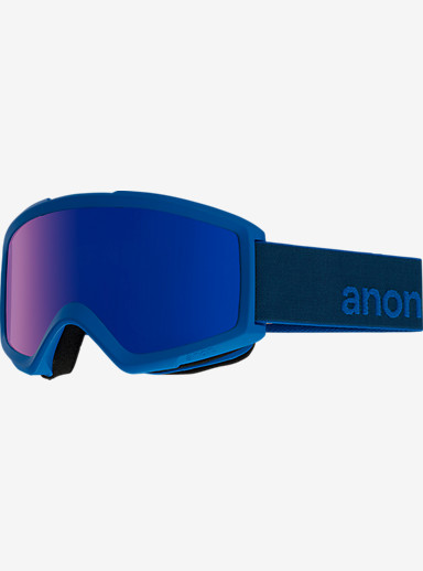 anon. Helix 2.0 Goggle + Spare Lens shown in Frame: Midnight, Lens: Blue Cobalt