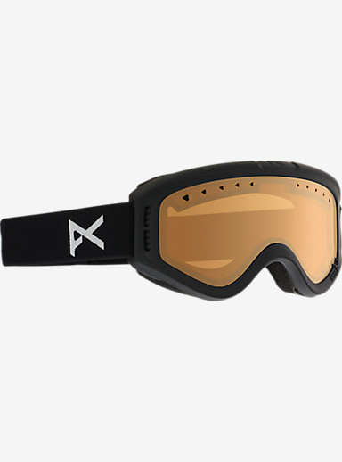 anon. Kids Tracker Goggle shown in Frame: Black, Lens: Amber