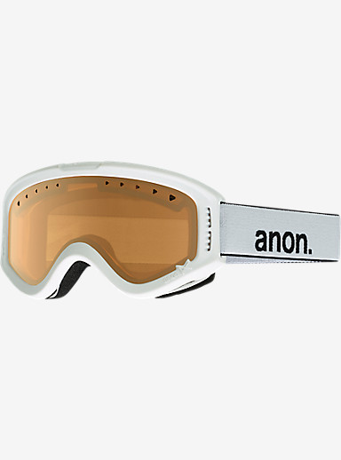 anon. Kids Tracker Goggle shown in Frame: White, Lens: Amber