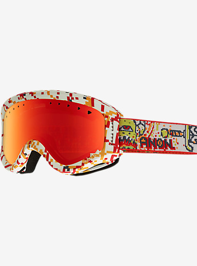 anon. Kids Tracker Goggle shown in Frame: 8Bit, Lens: Red Amber