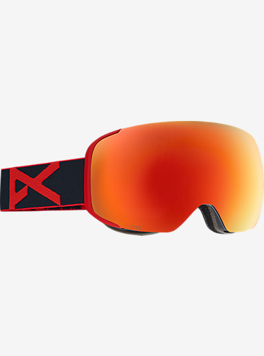 anon. M2 Goggle shown in Frame: Red Eye, Lens: Red Solex
