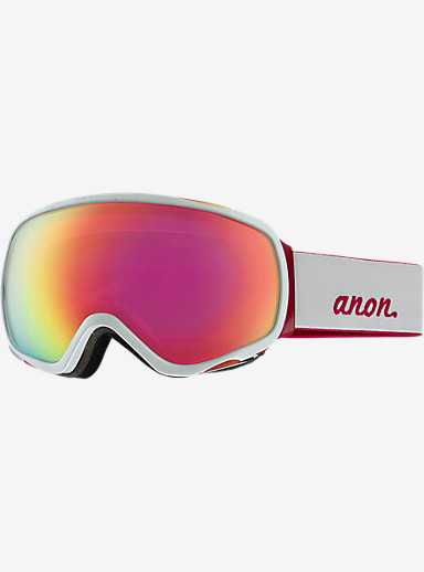 anon. Tempest Goggle shown in Frame: White, Lens: Pink Sq