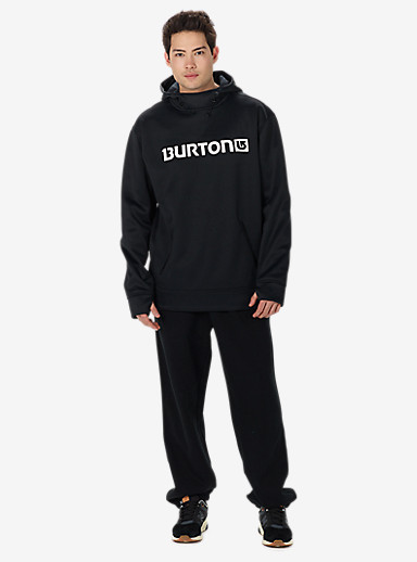 Burton Crown Bonded Pullover Hoodie shown in True Black