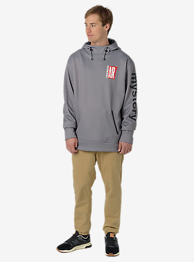 Burton Crown Bonded Pullover Hoodie shown in Monument Heather Air