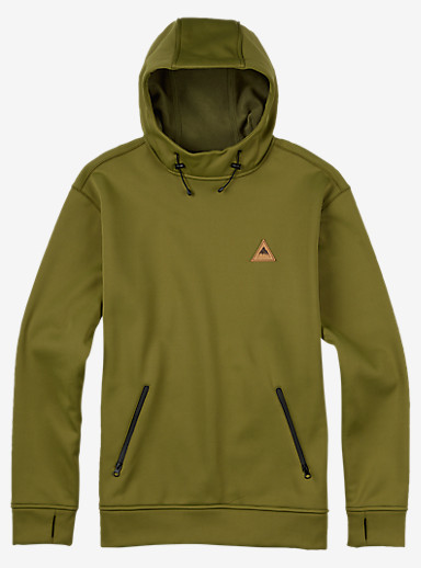 Burton Crown Bonded Pullover Hoodie shown in Olive Branch