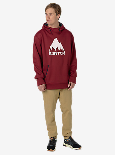 Burton Crown Bonded Pullover Hoodie shown in Wino