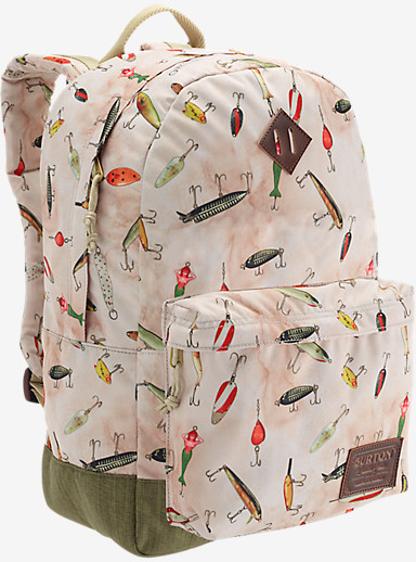 Burton Kettle Backpack shown in Fishing Lures Print