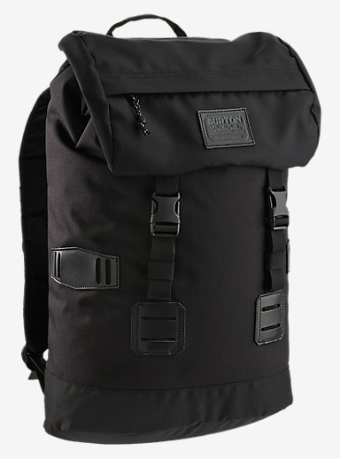 Burton Tinder Backpack shown in True Black Triple Ripstop