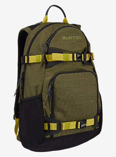 Burton Rider's 25L Backpack 2.0 shown in Jungle Heather Diamond Ripstop