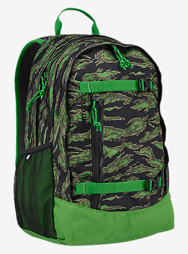 Burton Kids' Day Hiker 20L Backpack shown in Slime Camo Print
